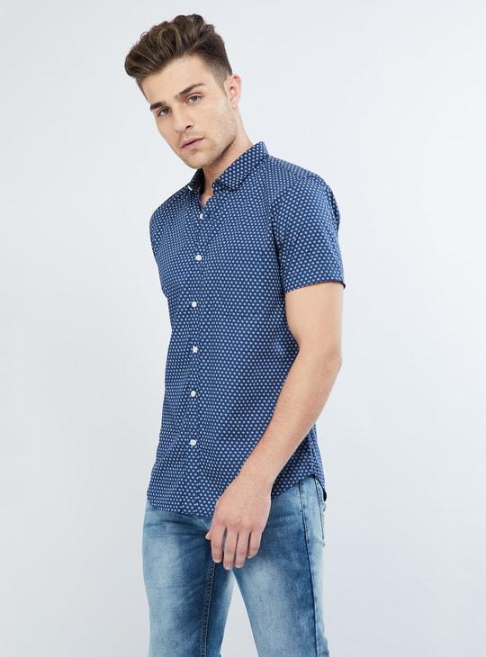 MAX Floral Ditsy Print Short-Sleeve Shirt