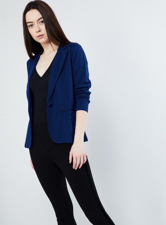 MAX Striped Single-Breasted Blazer