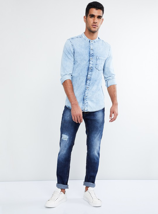 MAX Lightly Washed Distressed Jeans