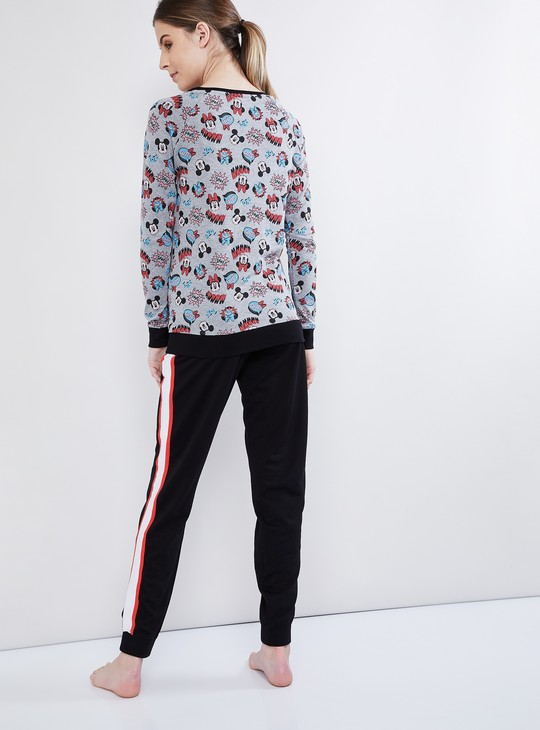 MAX Graphic Print Long Sleeve Sweatshirt with Pyjamas