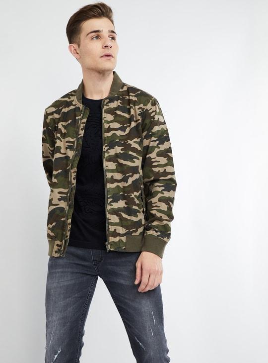 MAX Camouflage Print Jacket