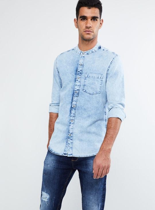 MAX Stone-Washed Denim Shirt