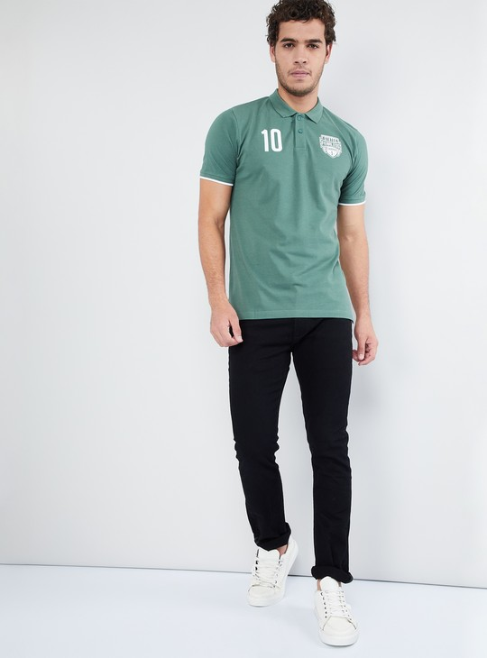MAX Graphic Print Polo T-shirt