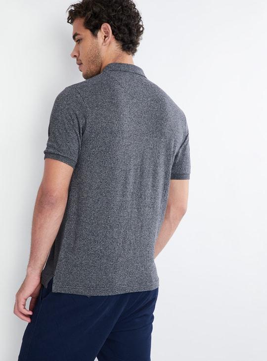 MAX Gradient Texture Polo Neck T-Shirt