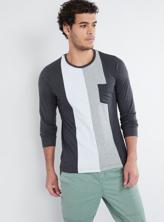 MAX Colourblock Long-Sleeve T-shirt