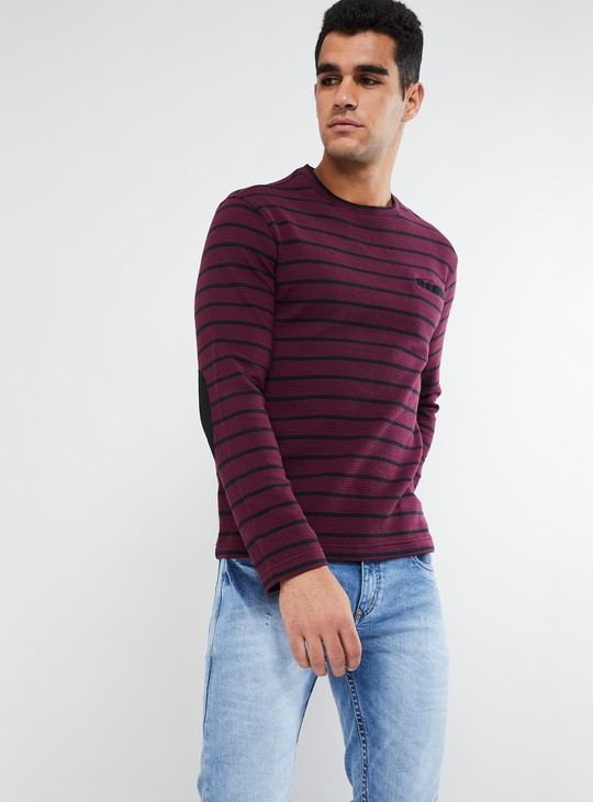 MAX Striped Long Sleeve Crew Neck T-shirt