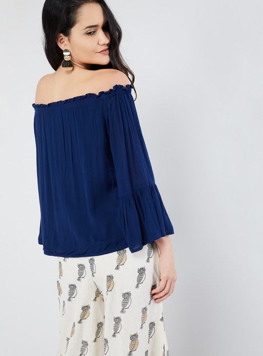 MAX Bell Sleeve Off-Shoulder Top