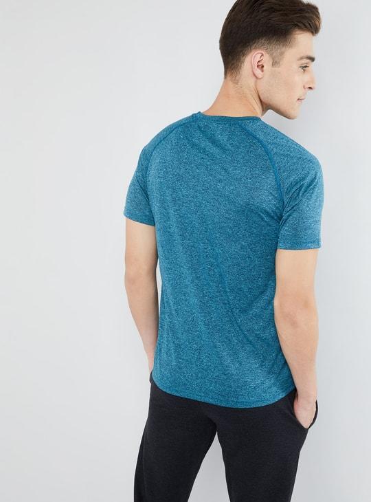 MAX Solid Melange Raglan Sleeve Training T-shirt