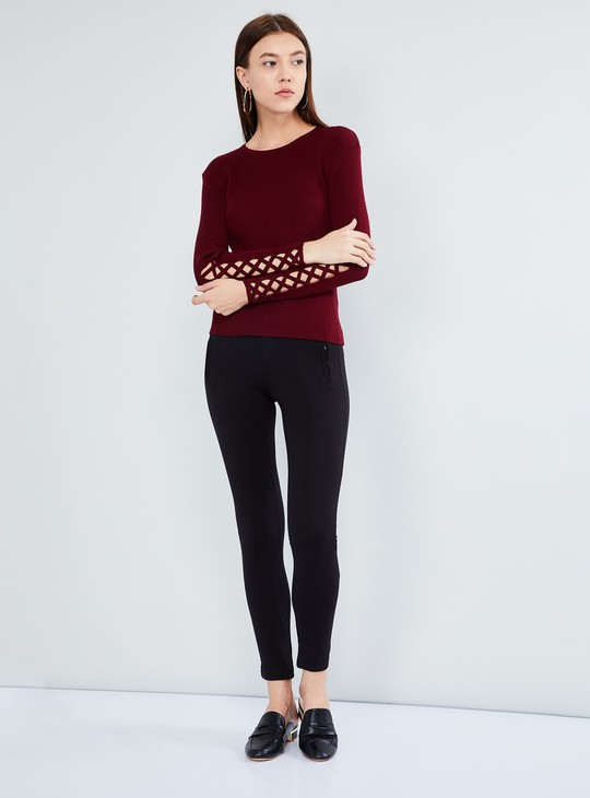 MAX Solid Top with Criss-Cross Sleeve