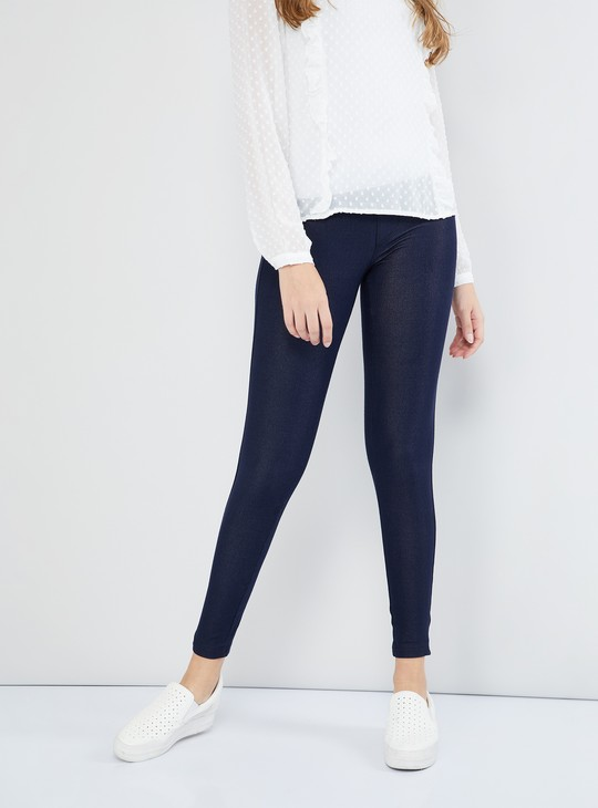 MAX Solid Shimmer Texture Leggings