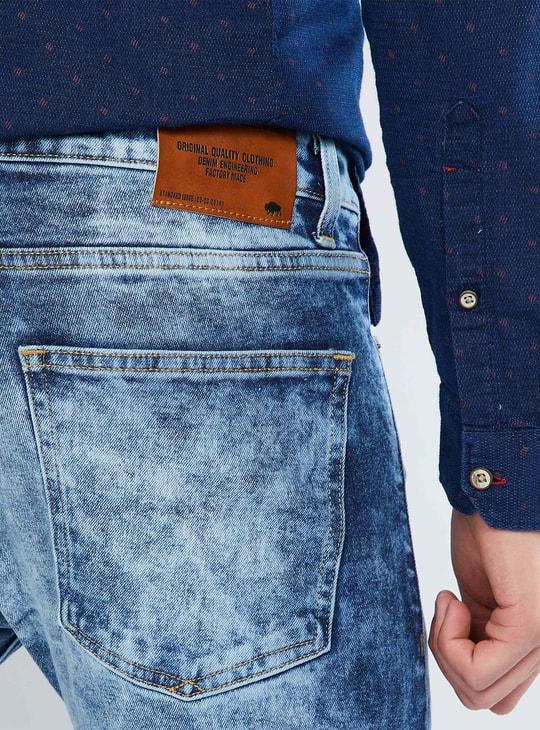 MAX Acid Wash Slim Fit Jeans