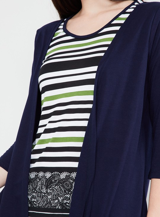 MAX Waterfall Shrug with Attached Top