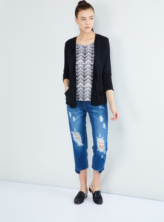 MAX Printed Shrug with Attached Top