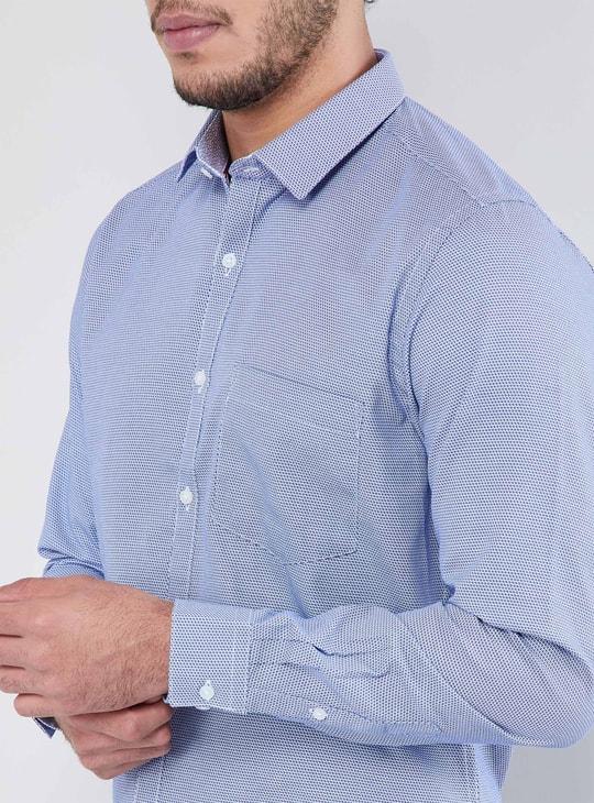 MAX Textured Long-Sleeve Shirt