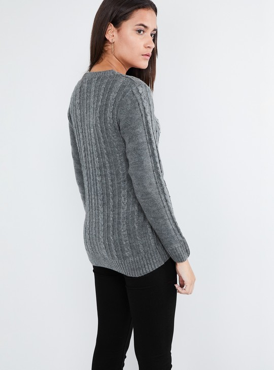 MAX Cable Knit Speckled Cardigan