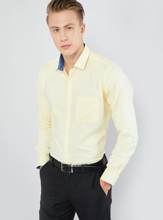 MAX Solid Long-Sleeve Formal Shirt