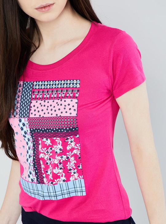 MAX Printed Cap Sleeve T-shirt