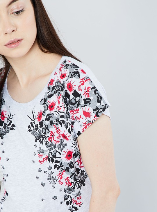MAX Printed Cap Sleeve Top