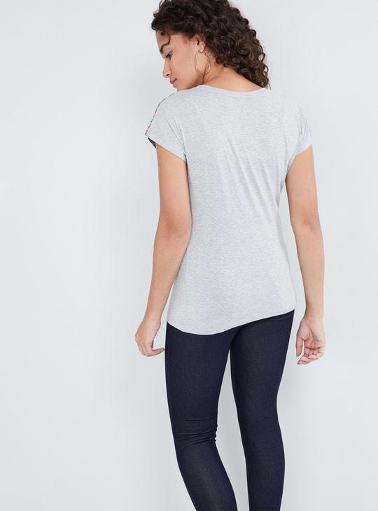 MAX Printed Extended Sleeves Top