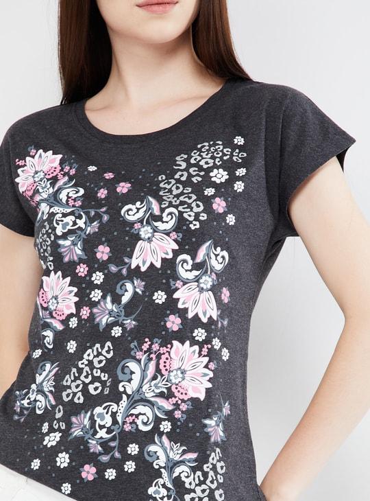 MAX Floral Print Kimono Sleeves Top
