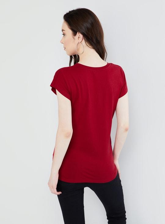 MAX Floral Print Crew-Neck T-shirt