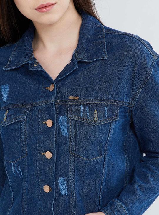 MAX Fringed Rose Embroidered Jacket