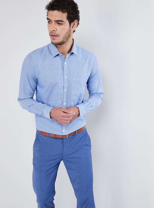 MAX Textured Long-Sleeve Shirt