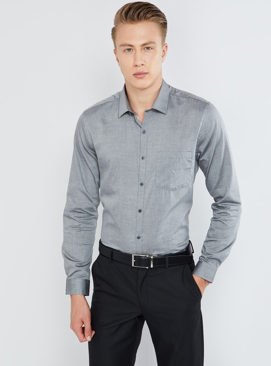 MAX Solid Patch Pocket Full Sleeve Shirt