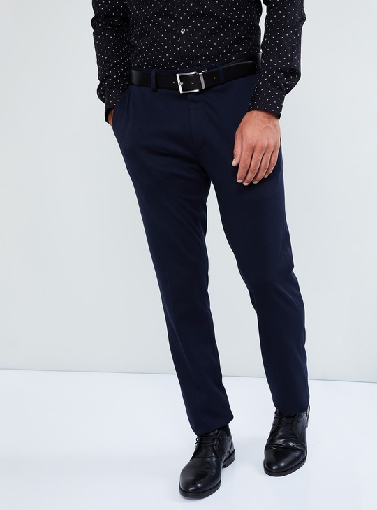 MAX Patterned Flat-Front Trousers