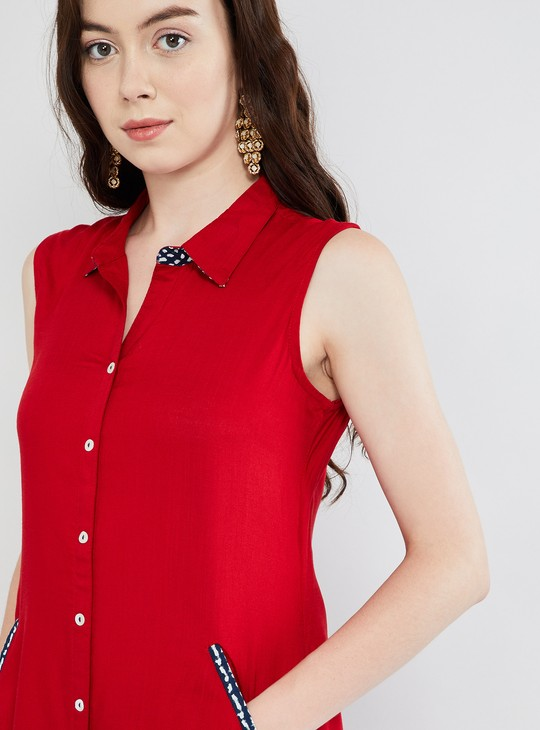 MAX Solid Button Down High-Low Kurta