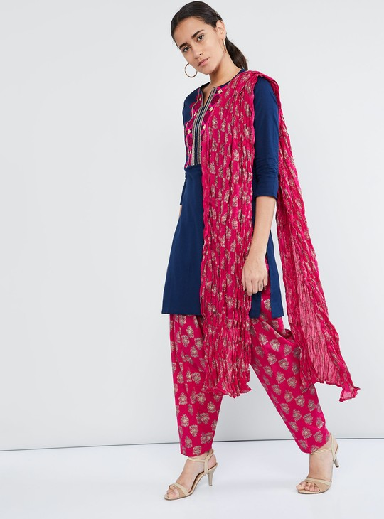 MAX Embroidered Kurta with Salwar and Dupatta
