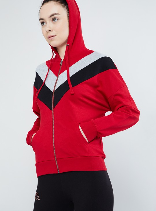 MAX Stripe Band Zip-up Sweatshirt