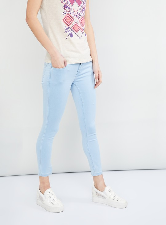 MAX Solid Cropped Skinny Fit Jeans