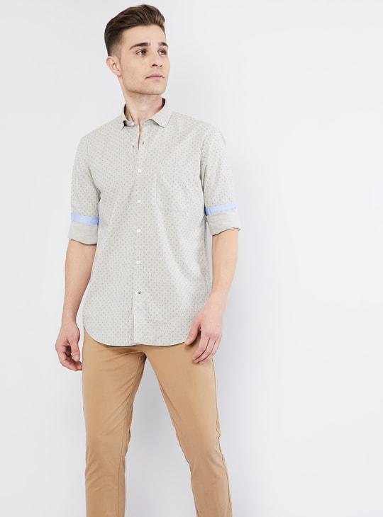 MAX Printed Button-Down Collar Long Sleeve Shirt