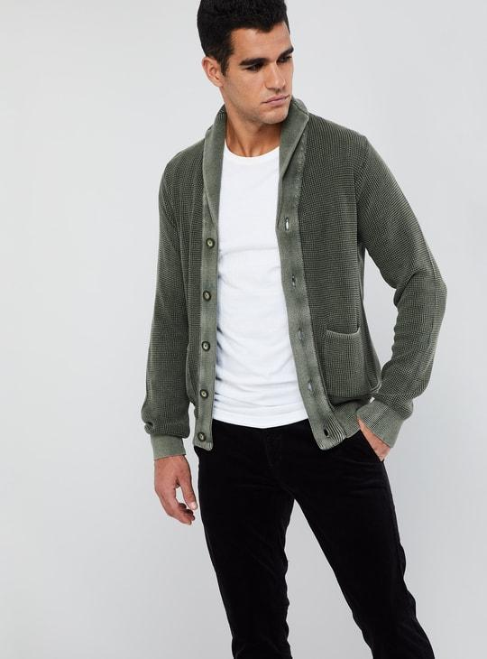 MAX Long Sleeve Textured Cardigan
