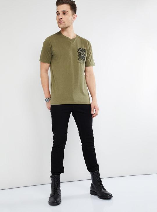 MAX Printed Henley T-shirt