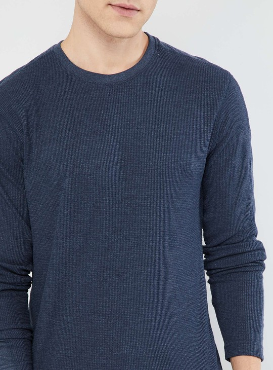 MAX Solid Long Sleeve Knitted T-shirt