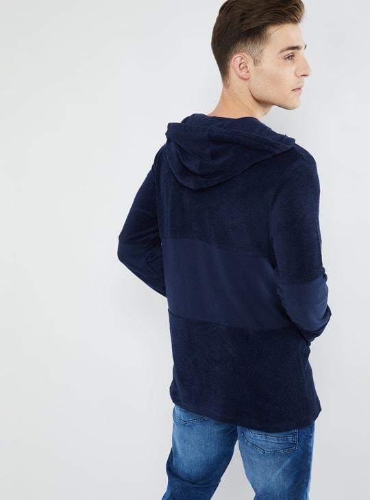 MAX Kangaroo Pocket Panelled Hoodie