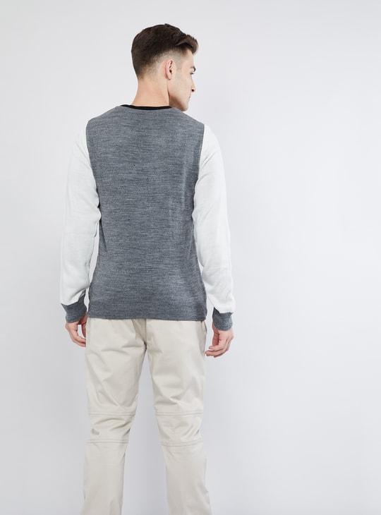 MAX Colourblock Long Sleeve Crew Neck Sweater