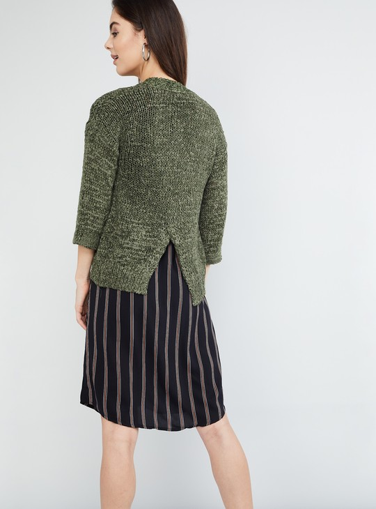MAX Textured Knit Shrug