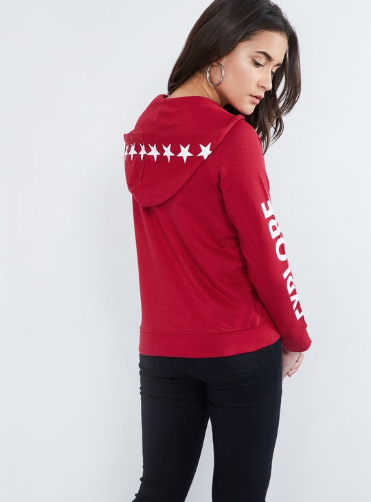 MAX Embroidered Patchwork Hooded Jacket
