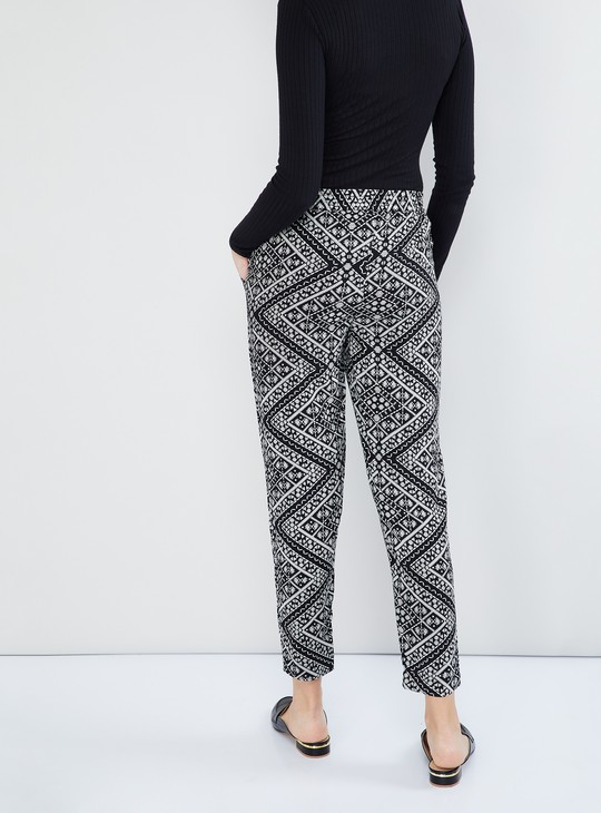 MAX Printed Ankle-Length Pants