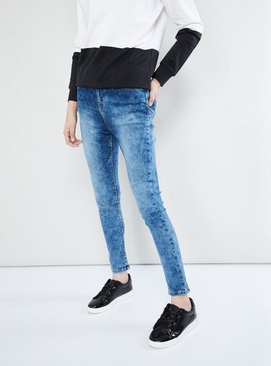 MAX Acid Wash Skinny Fit Jeans
