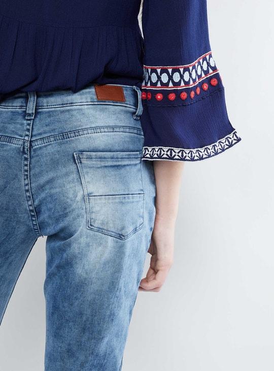 MAX Acid Wash Ankle Length Jeans
