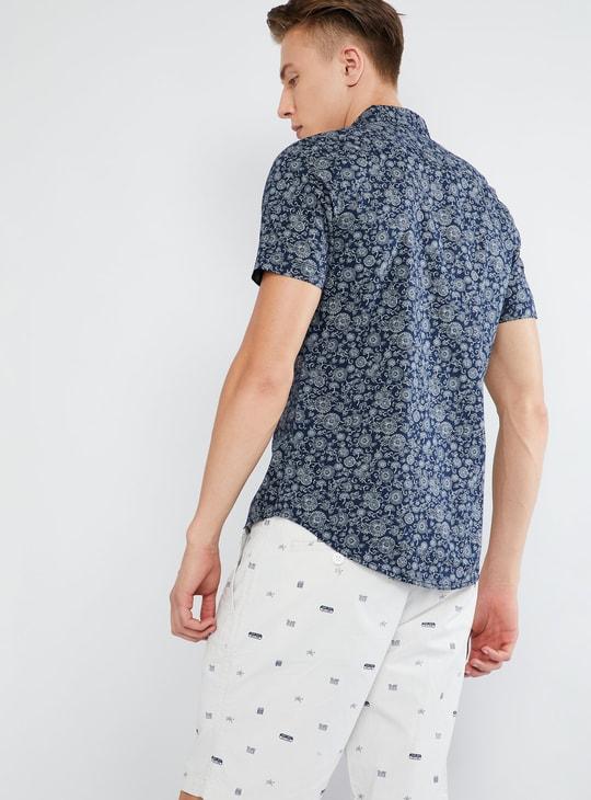 MAX Printed Short-Sleeve Casual Shirt