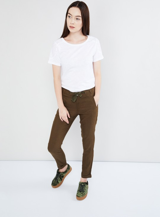 MAX Lace Placket Solid Top