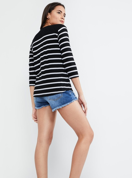 MAX Striped Long Sleeve Top