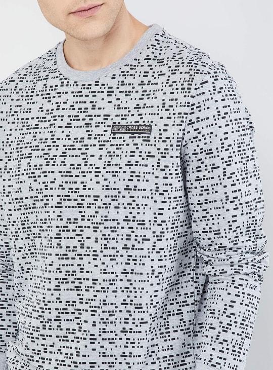 MAX Printed Crew Neck Long Sleeve Sweatshirt