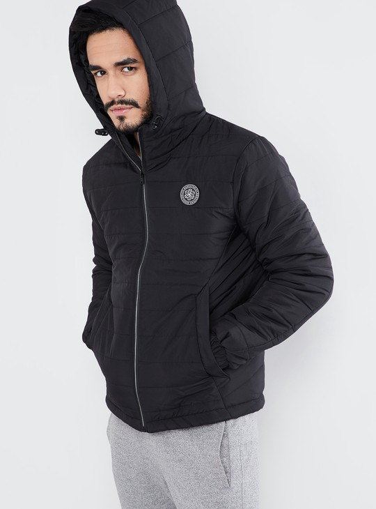 MAX Quilted Zip-up Hooded Jacket