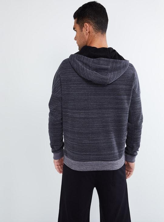 MAX Chevron Textured Zip-up Sweatshirt